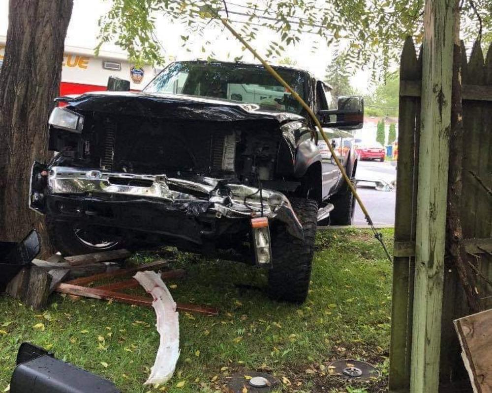 truck crash front view